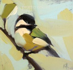 ©Prattcreekart.  Image result for painting bird on branch