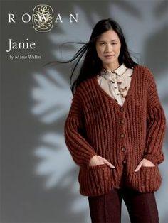 Janie oversized rib cardigan FREE PATTERN from Rowan Members (free to join) knit using Worsted/Aran weight yarn
