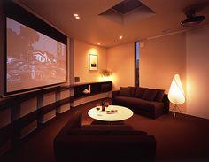 映画に集中できるシアタールーム Audio Room, Home Fashion, Loft, Bedroom, House Styles, Dream Houses, Screens, Design, Image