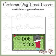 Rudolph the Red Toes Reindeer topper and tag set - Digital ...