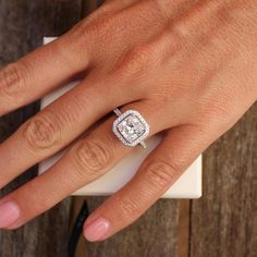"""5166f95ef552 Check out our site for additional details on """"princess cut diamonds"""". It is  an outstanding place to read more. Halo Diamond Engagement RingDiamond ..."""