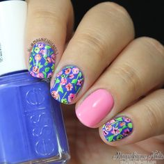 Magnifique Nails: Bright Florals Nails