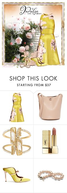 """""""The   Sweet Life"""" by flowerchild805 ❤ liked on Polyvore featuring Lela Rose, Rochas, Kara Ross, Yves Saint Laurent, Malone Souliers and WALL"""