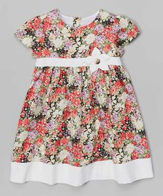 Look what I found on #zulily! White & Fuchsia Floral Dress - Infant & Toddler by P'tite Môm #zulilyfinds