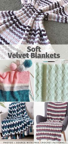 Velvet yarns are getting more and more popular every day, and I have no doubts why! Many producers have recently introduced them to their selection, and they Scrap Yarn Crochet, Chunky Crochet, Chunky Yarn, Blanket Yarn, Baby Blanket Crochet, Crochet Blankets, Baby Blankets, Afghan Crochet Patterns, Crochet Afghans