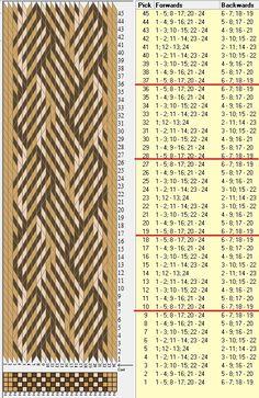 24 tarjetas, 3 colores, repite cada 9 movimientos // sed_561 diseñado en GTT༺❁