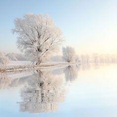 Snowy morning reflections (Poland) by aniszewski