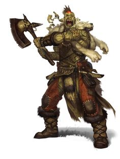 ORCS are war-like brutes who stand a little over 6' tall with females slightly smaller. They have their own language but it varies from tribe to tribe. They are naturally strong physically and highly alert at all times.