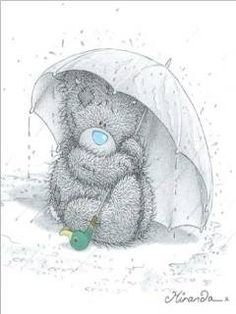 Tatty Bear in the rain with umbrella http://gallery.mobile9.com/f/174357/
