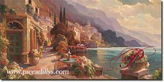 Lake Como Stroll By Leon Roulette, painting