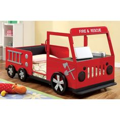 Hokku Designs Fire Engine Twin Bed