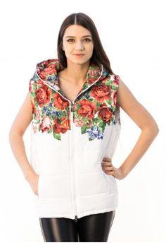 Жилетка «Квіти» з капюшоном Hooded Jacket, Peplum, Athletic, Jackets, Tops, Women, Fashion, Jacket With Hoodie, Down Jackets