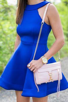 fit & flare cobalt dress