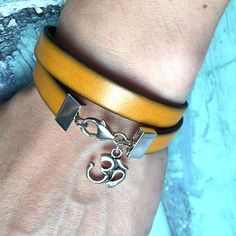 Silver ohm leather bracelet, yoga bracelet , sterling silver leather wrap bracelet, yellow leather bracelet #ohmbracelet #yellowleatherwrapbracelet #yogabracelet #yogaloverbracelet #womenswear #womensfashion #womensaccessories #giftforher #bohobraceletwomens #ohmcharmbracelet • The Ananda collection •A personal favourite from my Etsy shop https://www.etsy.com/uk/listing/242624627/silver-ohm-leather-bracelet-yoga