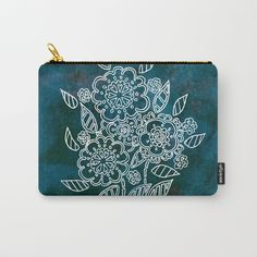 Blue flowers Carry-All Pouch by seelas Organize Your Life, Blue Flowers, Pouches, Handicraft, Art Supplies, Carry On, Ipad, Exterior, Electronics