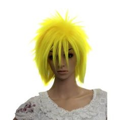 Yellow Afro Costume Party Wig