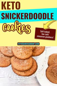 """These keto snickerdoodle cookies are a delight to the tastebuds. They are soft-baked, tender, and easy to make. It's a keto """"sugar"""" cinnamon cookie recipe that allows you to enjoy all the flavor, texture of this well-loved recipe without the worry of being kicked out of ketosis.gluten-free snickerdoodle cookies