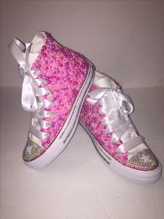 1e67d35b18ed WOMEN S Pink Star Bedazzle Bling Converse All Star Chuck Taylor Sneakers
