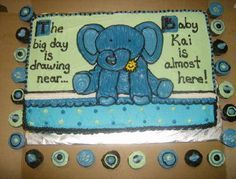 Image result for baby shower cakes with baby elephants Baby shower
