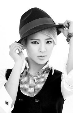 Kim Hyoyeon of Girls' Generation #SNSD for Mr.Mr. #MrMr black and white pictorial