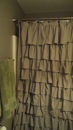 Ruffle Curtain, Shower Curtain.