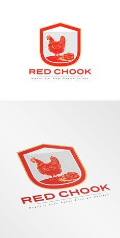 Red Chook Free Range Chicken Logo on Behance