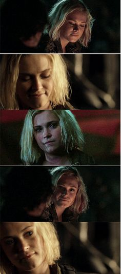 Clarke can't stop smiling for the one and only Bellamy Blake.
