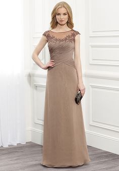 Find More Mother of the Bride Dresses Information about Khaki Mother Of The Bride Dresses Lace Applique High Neck Collar Bridal Dress Plus Size Custom Made Mom Evening Gowns,High Quality gown with lace sleeves,China dress popular Suppliers, Cheap gowns robes from wedding mall 1989 on Aliexpress.com