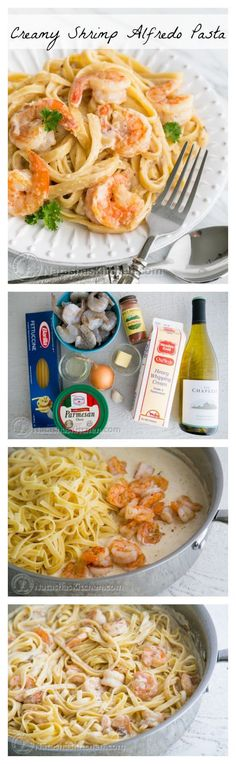 ; seafood alfredo. The creamy pasta studded with large tender shrimp is the…