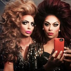 ❤️ Alyssa and Shangela ❤️ Best Drag Queens, Rupaul Drag Queen, Figure Me Out, Alyssa Edwards, Double Trouble, Beautiful Couple, Lgbt, You Stay, Halloween Face Makeup