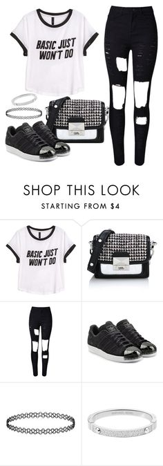 """Untitled #1547"" by anarita11 ❤ liked on Polyvore featuring H&M, Karl Lagerfeld, adidas Originals and Michael Kors"