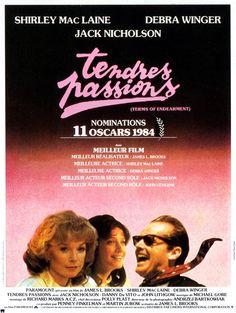"""282. """"Tendres passions"""" de James L. Brooks avec Shirley MacLaine, Debra Winger avec Jack Nichoson, . 1984"""