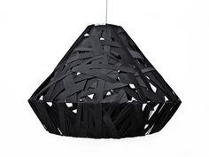 Lampa pleciona Czarna//ANNA SZCZĘSNA ! Lamp braided black