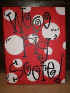 woo pig sooie canvas