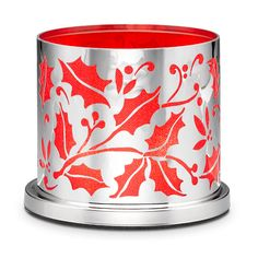 Enchanted Crimson Berry Candle Holder