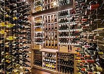 Transitional Modern Custom Wine Cellar by Papro Consulting Cable Wine System 5