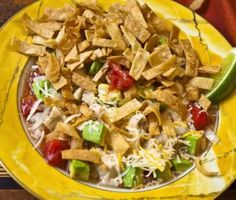 Sopa Azteca (Tortilla Soup) - Rick Bayless - Photo by Kit Wohl Mexican Dishes, Mexican Food Recipes, Soup Recipes, Cooking Recipes, Healthy Recipes, Cooking 101, Copycat Recipes, Clean Recipes, Crockpot Recipes