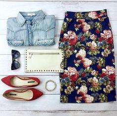 When in doubt... wear floral print. http://Sexymodest.com #floralskirt #modestskirt #modeststyle
