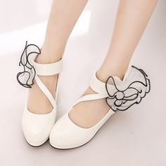 2017 New Girls Princess casual leather shoes Stylish High heels dancing shoes Spring fall children dress shoes for kids Flowers