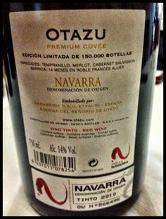 El Alma del Vino.: Otazu Premium Cuvée 2010.