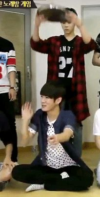 """up10tion-af: """" kuhnfused: """" kind-hearted vs satan """" This was probably the moment I started liking Wooshin!  Look at his face he's all like ' hmm is this high enough..lets see!'"""