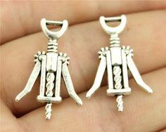 Anhänger Hände - 20pcs 26x17mm Silber Korkenzieher Charms - ein Designerstück…