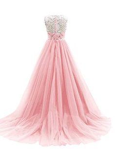 Dresstells Damen Ballkleid Lang Tüll Hochzeitskleid DTH90037 Blau Größe 32