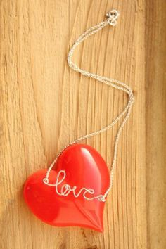 Love Word Necklace find supplies #word charms #bezels #glass domes #chains #stamping blanks at eCrafty.com