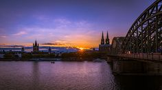 A nice evening in Cologne Sydney Harbour Bridge, Cologne, Opera House, Nice, Artist, Travel, Shop, Photography, Photos
