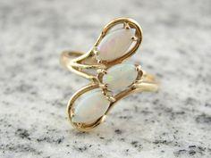 Asymetrical Vintage Opal Ring