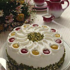 Himbeer-Pfirsich-Sahne-Torte Rezept