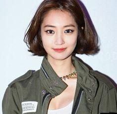 chin length bob; Ko Joon-hee