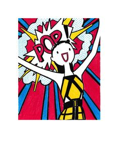 Hey-Harvey-Balmain-Roy Lichtenstein-Spring-2015
