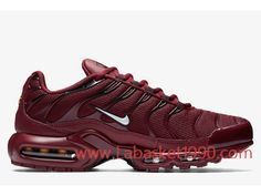 timeless design 04b94 5f7a8 Nike Air Max Plus 852630-602 Chaussures Nike Prix Pas cher pour homme rouge